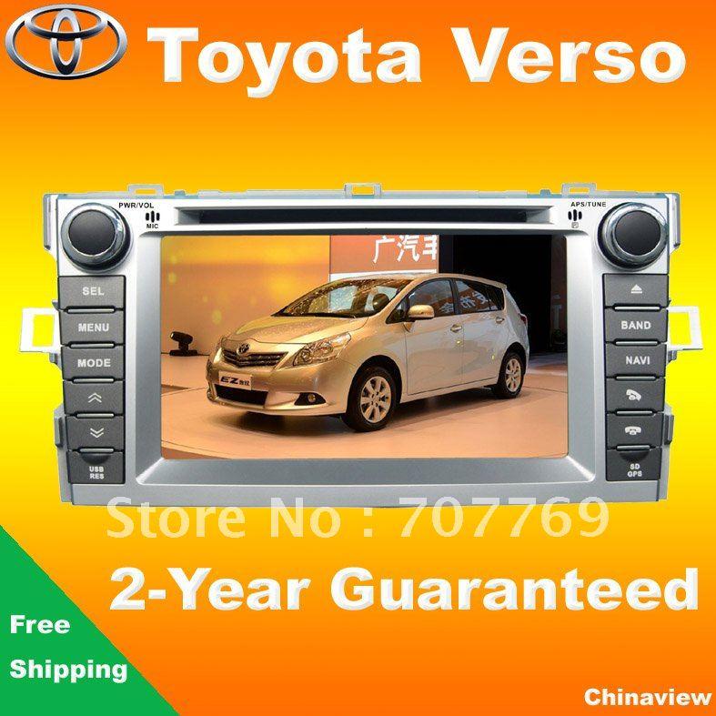 High quality Toyota Verso car head unit 2010-2012 with GPS navigation bluetooth back up camera usb sd TV AUX Ipod(China (Mainland))