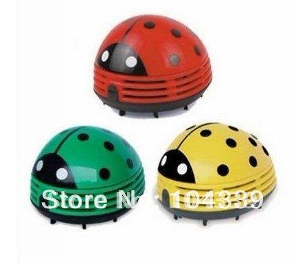 wholesale-1pcs-Lovely mini ladybug vacuum cleaner dust collector Free shipping(China (Mainland))