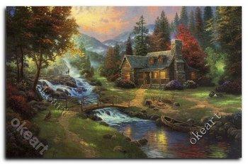 Free shipping Mountain Paradise Thomas kinkade Art prints 0310