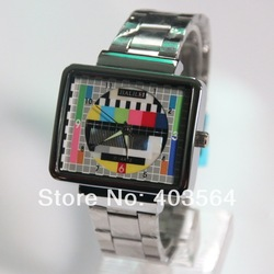 TV panel information signal, Stainless Steel Watch, fashion bracelet Wrist Watch, free shipping(China (Mainland))