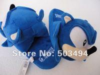 Free shipping EMS Sonic slippers Sonic Hedgehog Plush Toys Slipper 11'' 40 Pairs/LOT