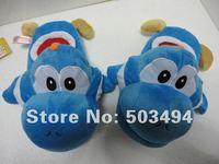 Free shipping EMS Super Mario Yoshi Plush Toys Blue Color 40 Pairs/ LOT