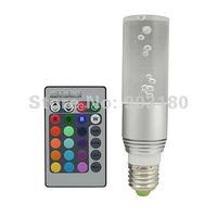 4pcs New lens LED 3W RGB spotlight E27 Remote Control RGB Flash LED Spot Light Crystal Light 16 colors KTV light fast shipping