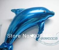 Large Blue Dolphin Foil  Helium Balloon Decoration 50PCS/LOT