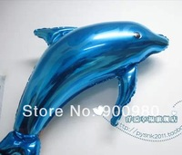Large Blue Dolphin Foil  Helium Balloon Decoration 50PCS/LOT
