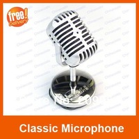 3.5mm Classic Style Desktop Microphone,Siliver Color Mic For PC Laptop