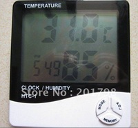 Digital LCD Temperature and Humidity Meter Clock Alarm