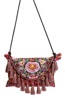 Woman Messager Bag Hmong Embrroidery Satchel Folk Handmade Embroidered Clutch Bag