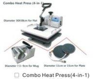 digital combo heat press machine 4 in 1 for mug, plate, t-shirt printing, multifunctional transfer machine