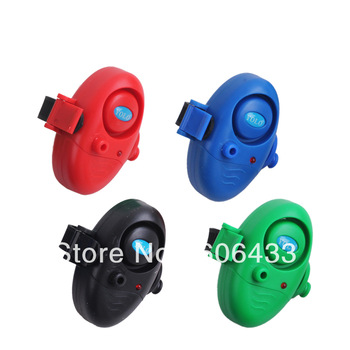 4PCS Fishing Bite Alarm Rod Sound Buzzer LED Light Clip