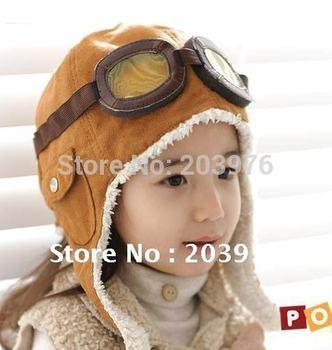 NEW 100% wool retail winter children's boys flight caps earflap hats