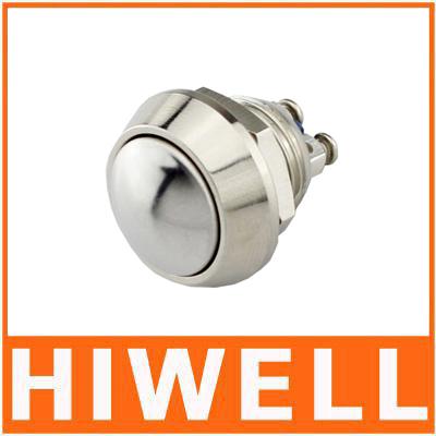 12mm anti-vandal metal push button switch stainless steel JS12B-10(China (Mainland))