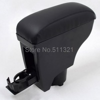Fit For 2005-2011 Toyota Belta/Toyota Vitz/Yaris Black Leather Console Armrest