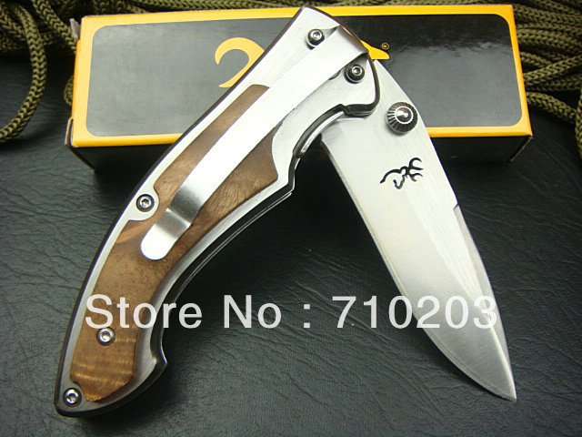 Browning Folding Knife White Wood Handle Outdoor Knife 337 Hand Tools Wholesale Price(China (Mainland))