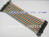 80pcs,40cm  Dupont wire cable Line 1p-1p pin connector ,2.54mm,electronic components & Free shipping