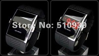1pcs/lot High quality LED watch luxury Date digital watch Mens Sport red Led Watch Freedropshipping