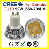 Promotion!!! GU10base 12W LED Spotlight Lamp CREE Rotundity LED 650-700LM (equivalent to 50W halogen bulb) Non-Dimmable