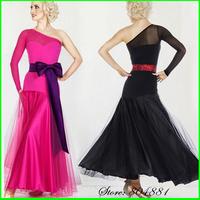 000189 - Free Shipping Three Colors Quality Women Dancing Dress 2pcs Dress for Ballroom Dancing Desigual Women Ballroom Dresses