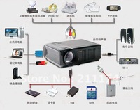 Home Cinema projector 2,100 lumens with HDMI USB china manufacture supply directly low price,HOT & Free Shiping!!!
