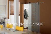 Elegant Interior glass barn door hardware with free shipping