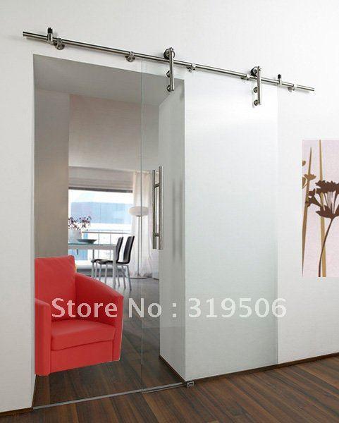 framless glass sliding door hardware with free shipping(China (Mainland))