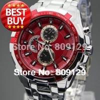 CURREN 8023 Men fashion Watches Stainless Steel Brand boys Wristwatches Man Fashions Clock Analog Quartz Dress Men's Watch (red)
