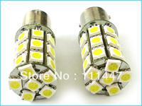Free Shipping 1156 27smd 1157 27SMD 3156 27smd 5050 led Brake Tail Trun signal led bulb 5 color 12V BA15S BAU15S BA15D P21W