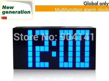 2012 New arrival Blue LED Clock With Countdown Time Novlty Home Decorative Diy Table Clock. Free Shipping!