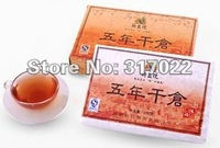 Yunnan Pu'er Brick tea,5 years old tea,Raw materials in 2005 to compressed,250g  with free shipping
