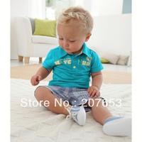 free shipping 5sets /lot children clothing set kids wear boy 's suit  short sleeve POLO shirt +shorts 2pcs suit gentlemen style