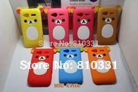 New Cartoon Rilakkuma Lazy Bear Soft Back Case for HTC G18 Radar C110e, With Retail Package,1pcs min order