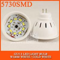 Free Shipping led bulb lamp 5730SMD MR16 4W 6W Warm white/cold white 220V 230V 240V