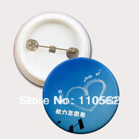 Promotion gifts Personalized button badge pin badge Size 32mm, 44mm, 58mm and 75mm