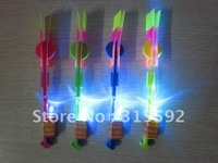 Free Shipping 100pcs/lot LED fly Flashing Arrow flash Ejection Arrows LED Helicopter well for Christmas