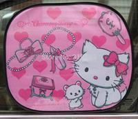 2pcs Pink Marie Cat Cartoon Auto Car Window Sun Shade See-through Solar Protection Summer Cool Adiabatic Mixed Wholesale