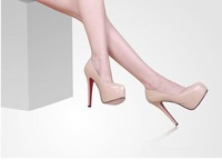 Free shipping Hot sell lady real leather Pumps shoes Dropship EU35--41 CLB-01