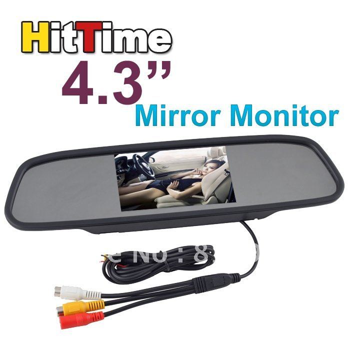 "NEW High-definition LCD display 4.3"" inch TFT Car LCD Rear View Rearview DVD Mirror Monitor for car CCTV camera cam(China (Mainland))"