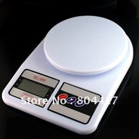 Free Shipping! New 1PC SF-400 7Kg x 1g Digital Kitchen Scale Food Postal Scale 0.1 OZ accuracy +Wholesale