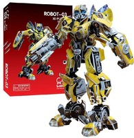 bumblebee 3D DIY Robot Models,Home Adornment,Model Puzzle Toy,Papermodel,Papercraft,Card model, Toy Figures  children day
