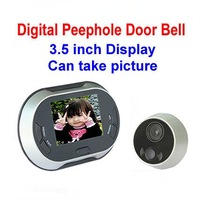 Freeshipping! 3.5 inch Display Digital Video Peephole Door Bell / Door Viewer,0.3MP Night Vision Camera,Can take picture