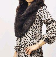 YR-350 Ladies genuine rabbit fur snood scarf~wholesale~retail~OEM