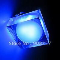 Free shipping 2pcs/lot LED mini 1 W Spotlight bulbs Crystal Corridor lights bulb high power crystalline light