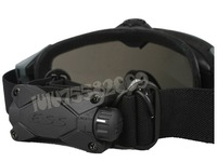 Airsoft USMC 3 mm Goggles Glasses with Fan Function + Free Len skiing goggle