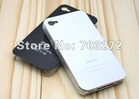 50pcs/lot Gilding Hard Plastic Case Cell phone cases for iPhone 4 4S Wholesales + freeshipping