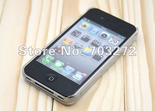 Wholesales!Freeshipping!50pcs/lot High Quality Gilding Hard Plastic Case Cell phone cases for iPhone 4 4S