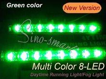Neue kommende 2 Stücke 8 LED Universalauto-Licht Tagfahrlicht Kopf Lampe, LED Tagfahrlicht, Nebelscheinwerfer Super Weiß(China (Mainland))