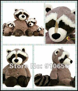 "Free shipping!11"" NICI Gray&Black Sitting Stuffed Racoon Stuffed Animals Plush toys,NICI Stuffed toys Cool gift"