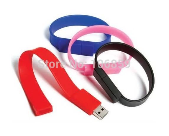 Wholesale Usb Flash Jump Drive 1GB 2GB 4GB 8GB 16GB Bracelet Usb Free Shipping+Free Gift 8GB Micro SD Memory CARD(China (Mainland))