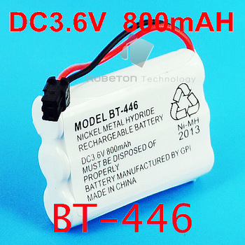 10pcs/lot New NIMH Cordless Phone Battery for Uniden BT-446 BT446,DC 3.6V 800mAh, Free Shipping