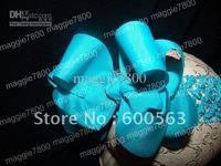 Girls' Boutique hair bow handmade ribbon feathers hairbows hairband hairclip hair clip crochet headband H39
